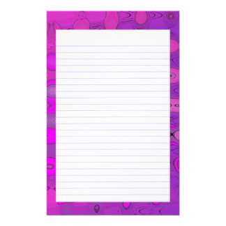 Purpe Tones  Lined Stationery