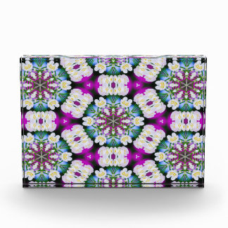 Purpel blue white checked floral pattern No11 Award