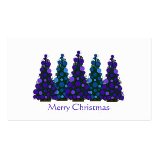 Purpke and Blue Christmas Tree Gift Tag profilecard