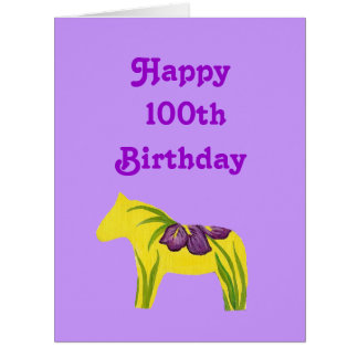 Purple 100th Big Birthday Card from all of us
