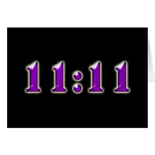 Purple 11:11 Numbers Card