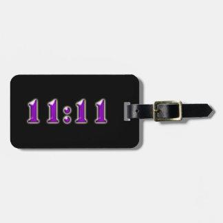 Purple 11:11 Numbers Luggage Tag