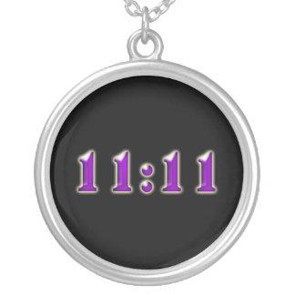 Purple 11:11 Numbers Pendant