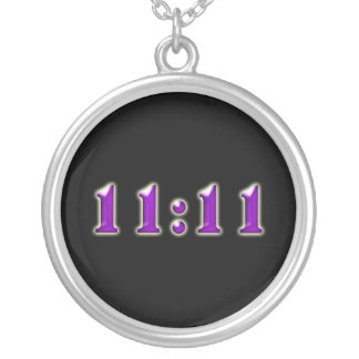 Purple 11:11 Numbers Round Pendant Necklace