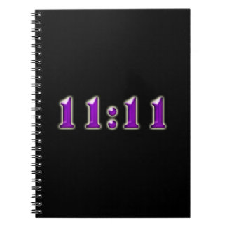 Purple 11:11 Numbers Spiral Notebook