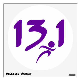 Purple 13.1 half-marathon wall sticker