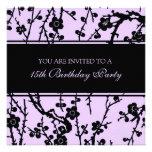 Purple 15th Birthday Party Invitations
