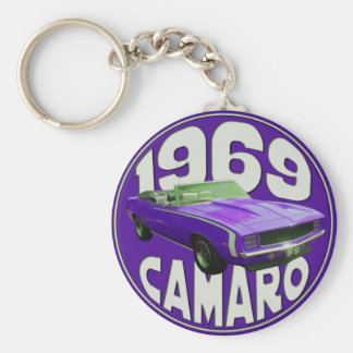 Purple 1969 Camaro Super Sport full Keychain