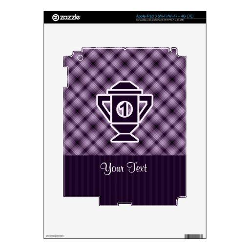 Purple 1st Place Trophy iPad 3 Skin