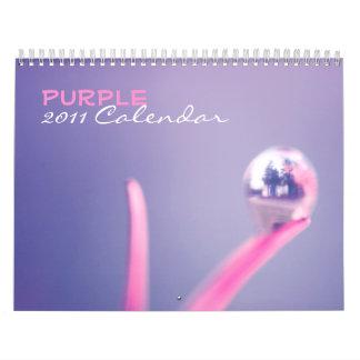 Purple 2011 calendar