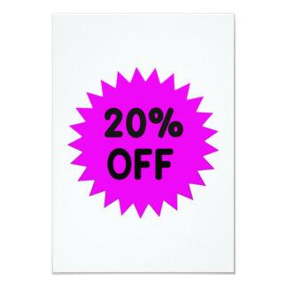 Purple 20 Percent Off Invites