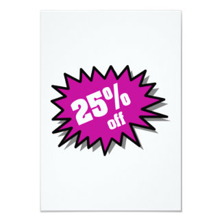Purple 25 Percent Off Custom Invites