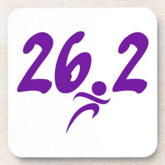 Purple 26.2 marathon beverage coaster