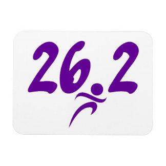 Purple 26.2 marathon rectangular photo magnet