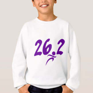 Purple 26.2 marathon sweatshirt