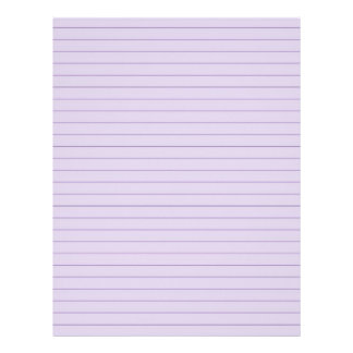 Purple 2730991 Lined Letterhead