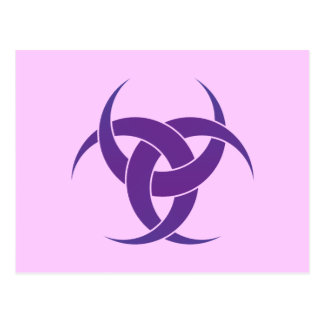 Purple 3 Crescents Postcard