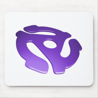 Purple 3D 45 RPM Adapter Mouse Pad