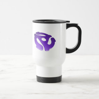 Purple 3D 45 RPM Adapter 15 Oz Stainless Steel Travel Mug