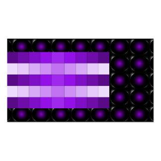 Purple 3D Illusion Unusual Business Card 5