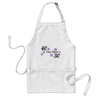 Purple 40 is the New 30 Adult Apron