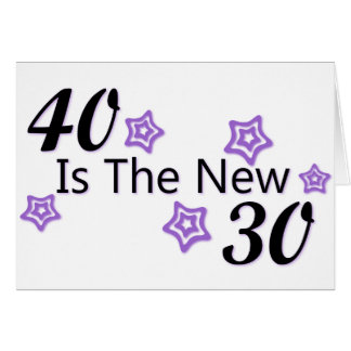Purple 40 is the New 30 Card