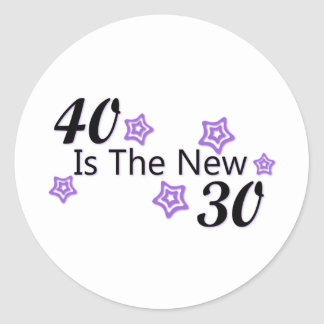 Purple 40 is the New 30 Classic Round Sticker