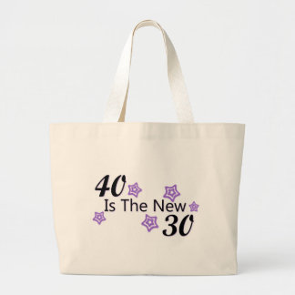Purple 40 is the New 30 Large Tote Bag