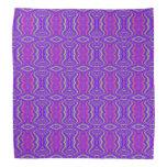 Purple 60's Retro Fractal Art Pattern Kerchiefs