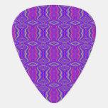 Purple 60's Retro Fractal Art Pattern Pick
