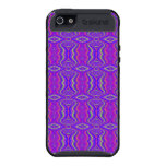 Purple 60's Retro Fractal Pattern Case For iPhone 5