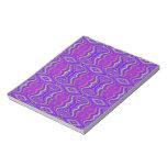 Purple 60's Retro Fractal Pattern Note Pad