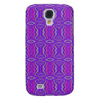 Purple 60's Retro Fractal Pern Galaxy S4 Case