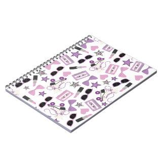 Purple 80s Inspired Pattern Notebook