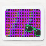Purple 80's Shades Mouse Pads