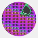 Purple 80's Shades Sticker