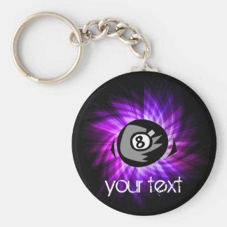 Purple 8 ball keychain
