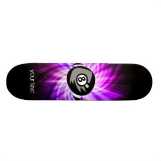 Purple 8 ball skateboard