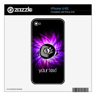 Purple 8 ball iPhone 4 skin