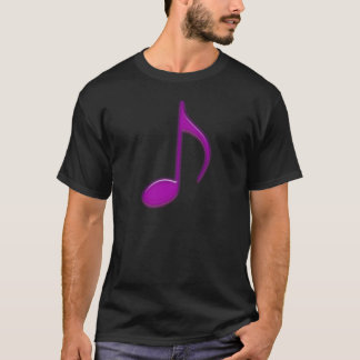 Purple 8th Musical Note Emboss Raised Looking T-Shirt