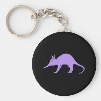 Purple Aardvark Keychain