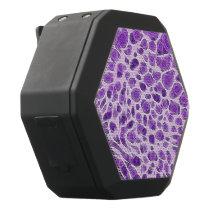 Purple Abstract Animal Print Texture Black Bluetooth Speaker