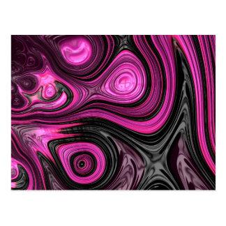 Purple abstract art illustration postcard