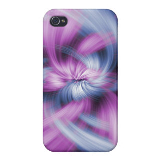 Purple Abstract Art Covers For iPhone 4