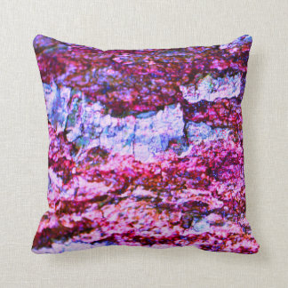 Purple Abstract Bark - Throw Pillow