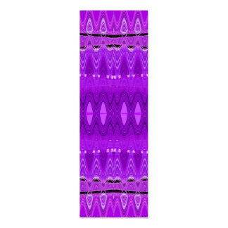 purple abstract bookmarks Double-Sided mini business cards (Pack of 20)