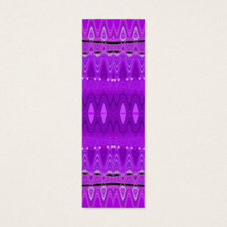 purple abstract bookmarks mini business card