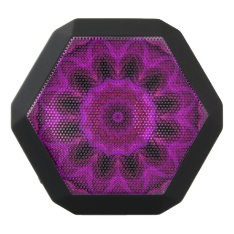 Purple Abstract Boombot Rex Black Bluetooth Speaker at Zazzle