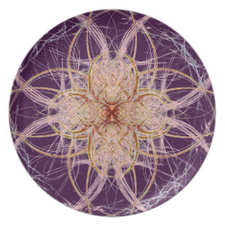 Purple Abstract by Alexandra Cook Dinner Plate