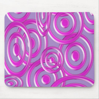 Purple abstract circle pattern mouse pad